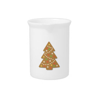 De Kerstboom van de peperkoek Drink Pitcher