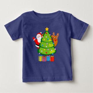De Kerstboom van de pret met de Kerstman en Baby T Shirts