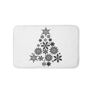 De Kerstboom van de sneeuwvlok Badmat