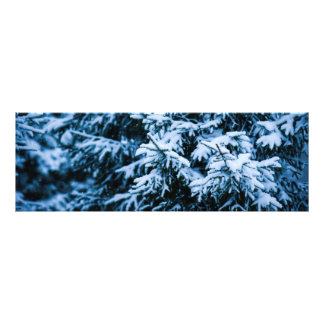 De Kerstboom van de Winter van de sneeuwval Foto Print
