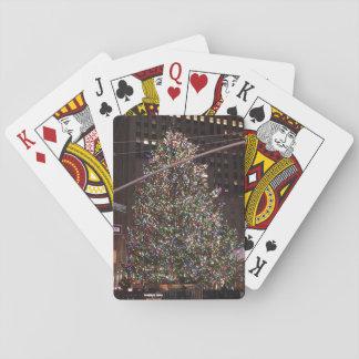 De Kerstboom van het Centrum van Rockefeller van Speelkaarten
