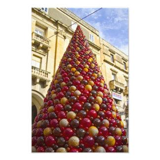 De Kerstboom van het Glas van Mdina Fotografische Afdruk