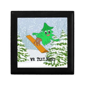 De Kerstboom van Snowboarding Decoratiedoosje