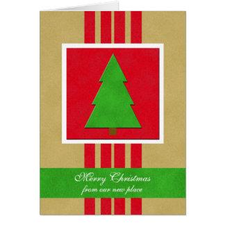 De Kerstkaart van de adreswijziging Wenskaart