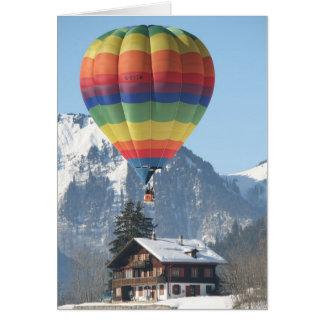 De Kerstkaart van de ballon Wenskaart
