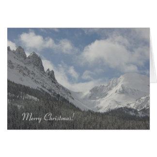De Kerstkaart van de Bergen van Colorado Kaart