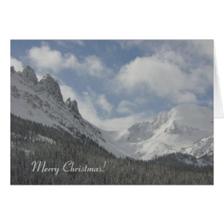 De Kerstkaart van de Bergen van Colorado Wenskaart