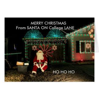 De Kerstkaart van de Close-up van de Kerstman op Briefkaarten 0