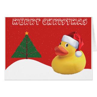 De Kerstkaart van de Eend van Kerstmis Kaart