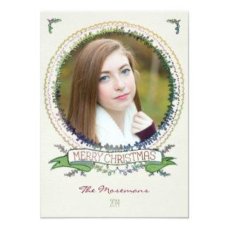 De Kerstkaart van de Foto van de Wijnstokken van Kaart