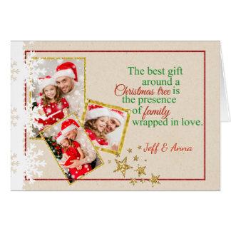 De Kerstkaart van de Foto van het Karton van Faux Briefkaarten 0