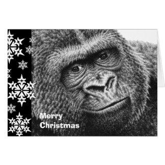 De Kerstkaart van de gorilla Kaart
