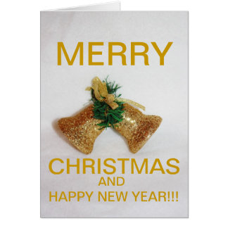 De Kerstkaart van de gouden Klok van Kerstmis Kaart