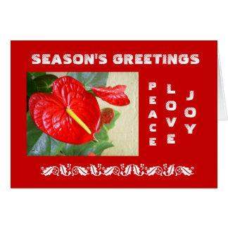 De Kerstkaart van de Groeten van het seizoen Kaart