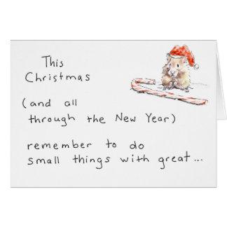 De Kerstkaart van de hamster Briefkaarten 0