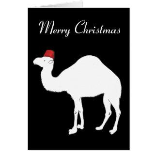 De Kerstkaart van de kameel Briefkaarten 0
