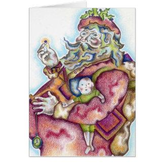 De Kerstkaart van de kerstman Wenskaart
