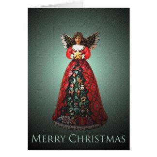 De Kerstkaart van de Klok van de engel Kaart