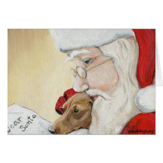 De Kerstkaart van de Kunst van het Verzoek van de Briefkaarten 0