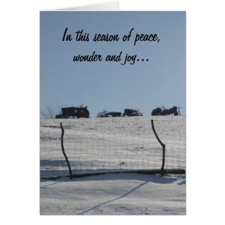 De Kerstkaart van de Scène van de Sneeuw van de Kaart