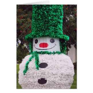 De Kerstkaart van de sneeuwman Kaart