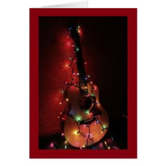 De Kerstkaart van de Speler van de gitaar Wenskaart