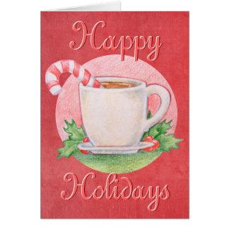 De Kerstkaart van de Thee van het Riet van het Briefkaarten 0