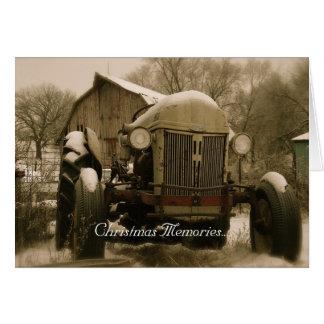 De Kerstkaart van de tractor: Het oude Geheugen Kaart