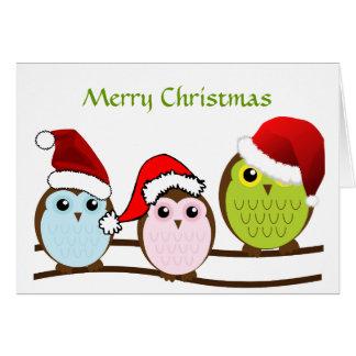 De Kerstkaart van de uil Briefkaarten 0