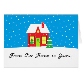 """De Kerstkaart van de vakantie """"van het Huis"""" Briefkaarten 0"""