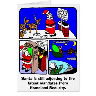 De Kerstkaart van de Veiligheid van de kerstman Wenskaart