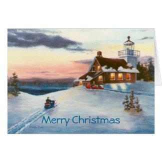 De Kerstkaart van de Zonsondergang van poolsters Briefkaarten 0