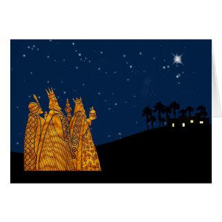 De Kerstkaart van drie Wijzen Kaart