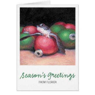 De Kerstkaart van Florida van de Schildpad van het Briefkaarten 0