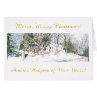 De Kerstkaart van het land Briefkaarten 0