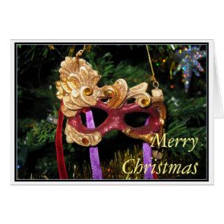 De Kerstkaart van het Masker van Carnaval Kaart