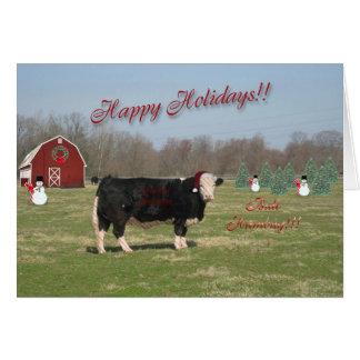 De Kerstkaart van Humbug van de stier Wenskaart