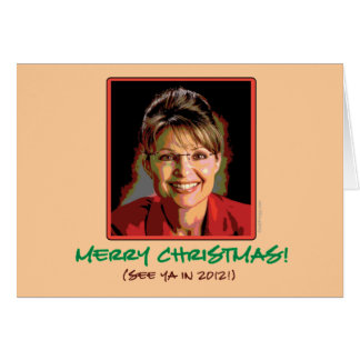 De Kerstkaart van Palin van Sarah Kaart