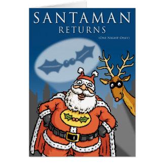 De Kerstkaart van Santaman Kaart