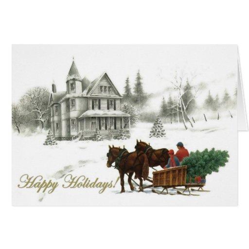 De kerstkaarten van het huis van de winter en van kaart zazzle - Huis van het wereldkantoor newport ...