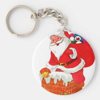 de Kerstman Basic Ronde Button Sleutelhanger