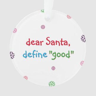 De kerstman bepaalt het Goede Ornament van de