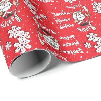 De kerstman bepaalt Ongehoorzaam of Nice   Cadeaupapier