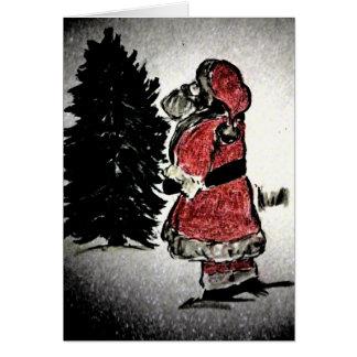 de Kerstman & boom Kaart