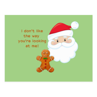 De Kerstman & de Jongen van de Peperkoek Briefkaart