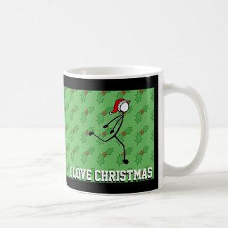 De Kerstman die van Kerstmis de Hulst Stickman Koffiemok