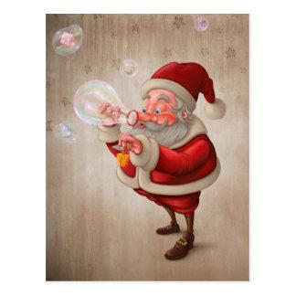 De Kerstman en de bellenzeep Briefkaart