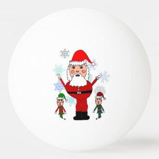 De Kerstman en de Elf van Kerstmis Pingpongbal