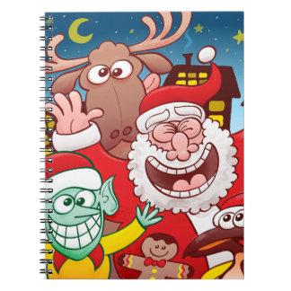 De Kerstman en zijn team is klaar voor Kerstmis Ringband Notitieboek