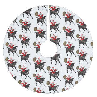 De Kerstman houdt van Zwarte Paarden Kerstboom Kleed